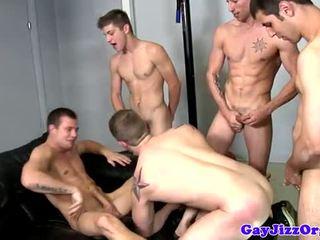 skupinový, homosexuál, sval