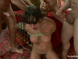 Stripped down, tied and fucked