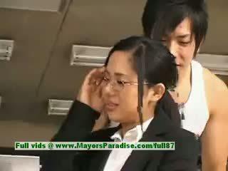 Sora aoi innocent verdorben asiatisch sekretärin enjoys getting