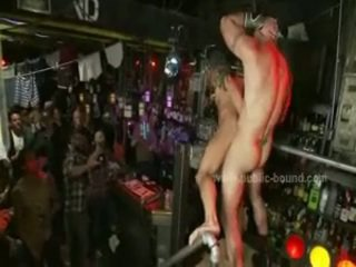 Chap With Tatoo Violently Drilled In Face Hole And Ass In Brutal Bondage Gay Gang Bang