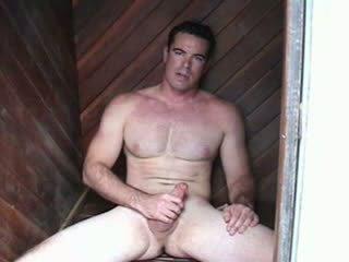 Str8 hunky sapnis vīrietis ar filma zvaigzne looks un ķermenis jacks no un cums twice kamēr viņš talks vāvere.