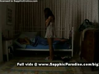 Delores and Jo from sapphic eroticalesbian girls teasing