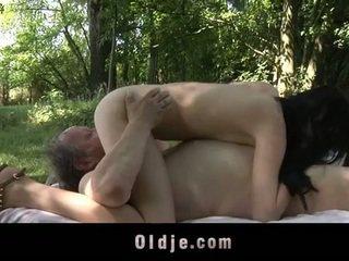 Lemak old man fucks rumaja in the woods