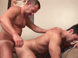Muscular Latino hunk bottoms while girlfriend has pleaded for him not to, but the money was too good