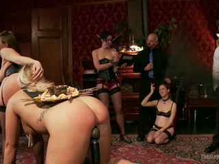 Mysterious fucking party with hot sluts.