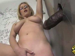 big cock, interracial, glory hole