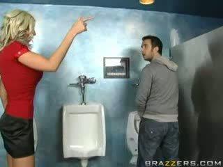 Drunk MILF Sucks in Toilet!