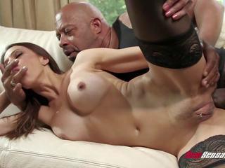 big boobs, big cock, interracial