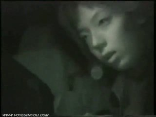 Назовні ніч машина секс по infrared camera