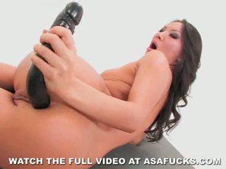 Asa akira goes anální s a velký černý dildo