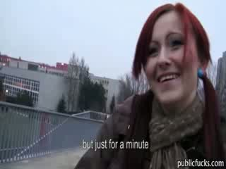 Redhead amateur slut gets analized in ...