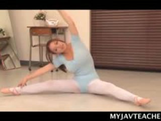 Superb Asian Ballerina Making Her Students Horny At School