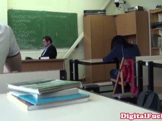 Universidade estudante puta a foder em o sala de aula