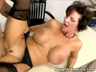 Breasty Milf Deauxma Receives Fucked By Her Student On Her Desk