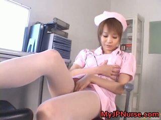 Mahtava aasialaiset sairaanhoitaja has lelu penetration