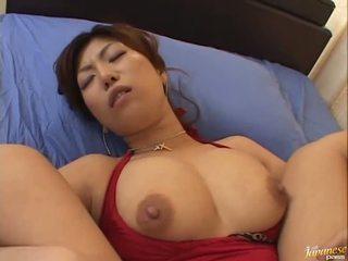 Mare boobed asiatic naho hazuki gets ei pizda licking