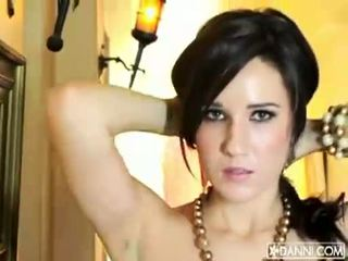 Hot brunette babeh erin avery strips and flashes her sexy body