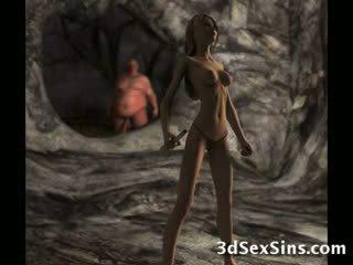 Ogres spunk auf 3d babes!