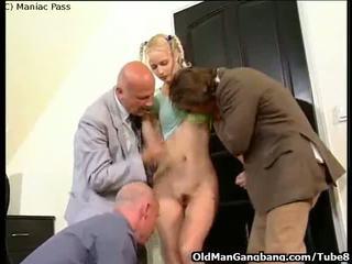 Blonde takes Euro anal gangbang