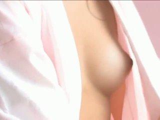 Iori mizukilovely japonesa miúda gets mamilos licked e a posar