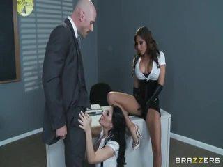 brunette, girl on girl, blowjob
