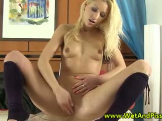 Piss: WAM blonde enjoys taking an urine bath