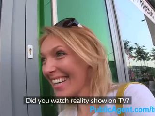 Publicagent viņa gets spit-roasted outdoors līdz nokļūt realitāte televīzija darbs