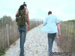 Guy Receives His Wonderful Cock Sucked On Beach 11 By Outincrowd
