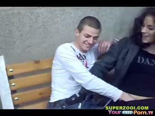 Búlgara adolescente público sexo