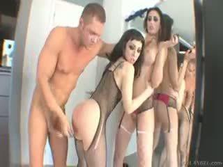 Watch Nacho Vidal Taking Control Of 2 Latina Pussies At Once