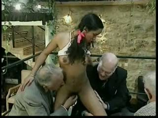 group sex, staro + young, interracial