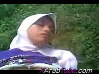 Recorded pohlaví tape s nadržený hijab