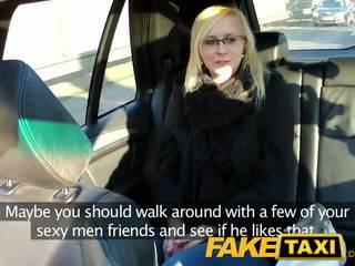 Faketaxi sexy young pirang in payback mbales