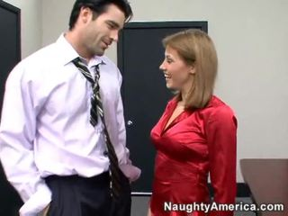 office sex, from behind, cock ride