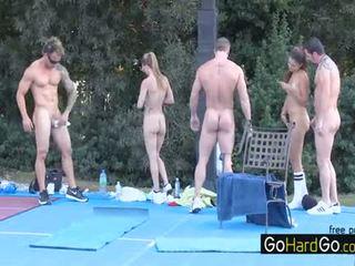 skupinový sex väčšina, ideálny veľké prsia sledovať, doggystyle vidieť