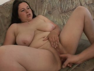 She is fat but it means you will have a lot to grab when fucking her