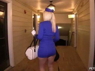 性感 空氣 hostess gets 性交