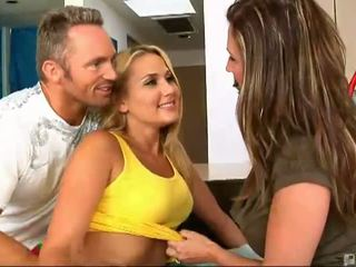riding, big tits, threesome