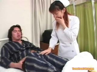 Oriental Nurse Playing Off