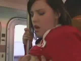 섹시한 학생 entered 에 그릇된 버스 비디오