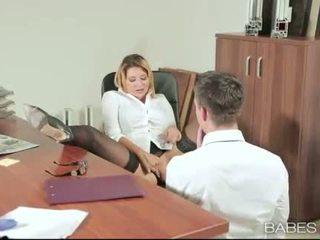 辦公室 孩兒 anna polina banged 實 良好