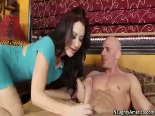 brunett, avsugning, porn