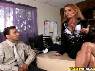redhead, office sex, big cock