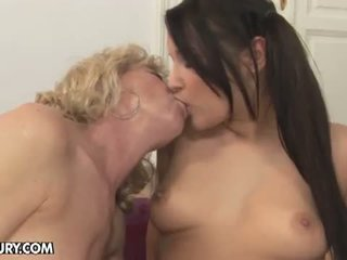 Old And Young Lesbian Love: Lesbian MI...