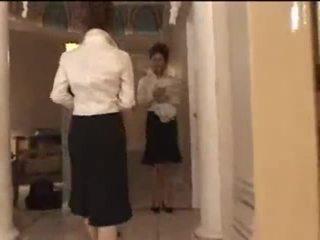 3 ขาว สาว ใน ญี่ปุ่น การนวด parlor