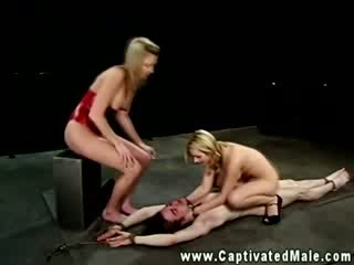 Dominatrixes riding submissives dick