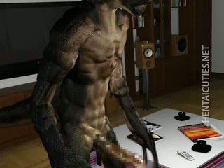 3d hentai stunner gives bj naar an buitenaards