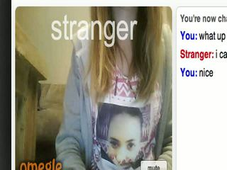 Hot Omegle Girl Shows Pussy