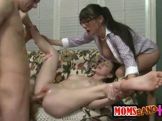 груповий секс, великий член, трійка