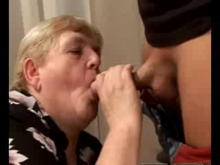 Horny granny gilf swallowing babe dick